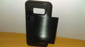 Black Phone Case with back sliding compartment. for Sale in Alexandria, VA