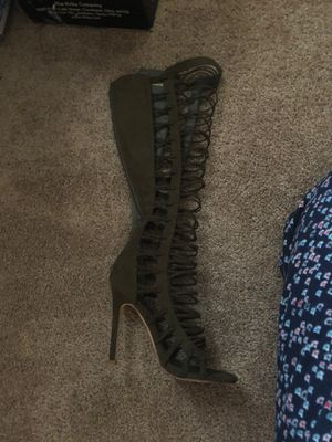 Lace up military green boots for Sale in Jacksonville, FL