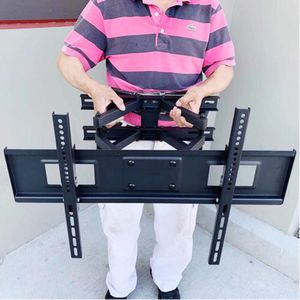 New in box 32 to 65 inches swivel full motion tv television wall mount bracket 120 lbs capacity with hardwares included soporte de tv for Sale in Baldwin Park, CA