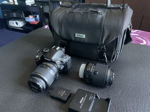 Nikon D5200 24.1MP Camera AND TWO LENSES Camera bag, Battery, Battery Charger for Sale in Yonkers, NY