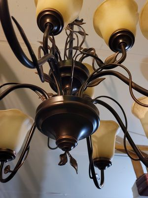 9 light 2 tier chandelier for Sale in Virginia Beach, VA