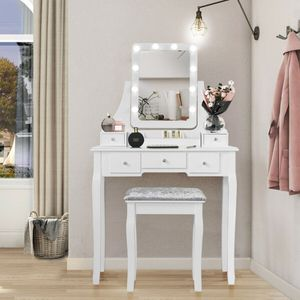 🌟 NEW White Makeup Vanity Mirror w/ Lights & Stoôl for Sale in Pinecrest, FL