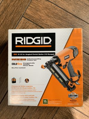 Ridgid Finish Nailer 15G for Sale in Norridge, IL