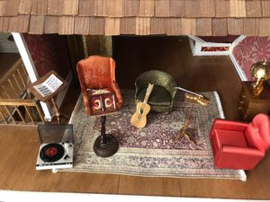 Vintage 1970 dollhouse music room set for Sale in Wheaton, IL
