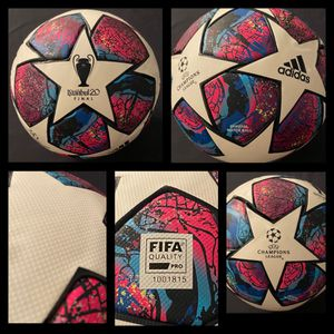 SOCCER BALL BRAND NEW MATCH BALL FIFA APPROVED CHAMPIONS LEAGUE NOT REPLICA OR TRAINING OFFICIAL SOCCER MATCH BALL SIZE 5. CASH ONLY NO DELIVERY, PIC for Sale in Alexandria, VA