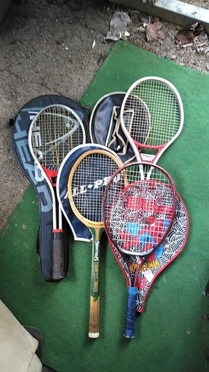 LOT of 4 Tennis Rackets w/ 4 covers for Sale in Columbus, OH
