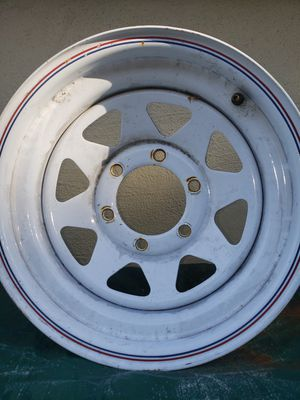 White 15X7.0 Wide Rim for Sale in Santa Clara, CA