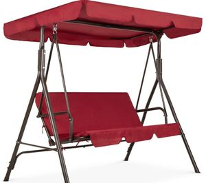 2 person outdoor canopy swing glider with removable cushions- new for Sale in Naperville, IL