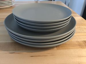 Set of 4 gray plates for Sale in Wenatchee, WA