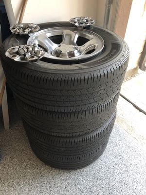 """17"""" - 5 lug Tires rims and lug nuts for Dodge Ram for Sale in Cypress, TX"""