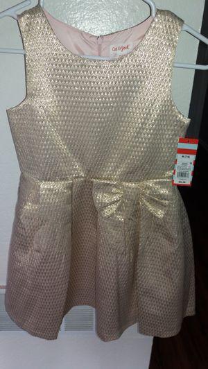 Cat & Jack gold dress size 7/8 for Sale in Santa Ana, CA