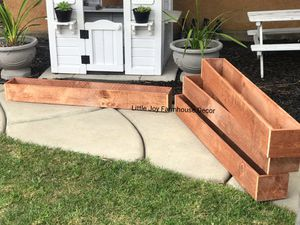 H5 🌵 Long Farmhouse Succulent/Flowers Planter Box/Window Flower Box/Table Centerpiece 🌺 for Sale in West Covina, CA