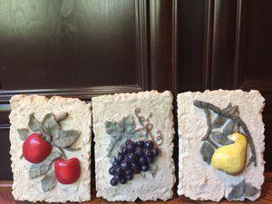 Kitchen/dinning room decorative fruit plaques! for Sale in Marietta, GA