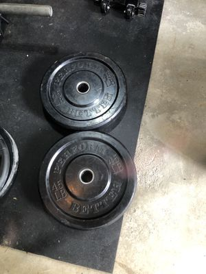 Olympic weights 45 lb bumper plates for Sale in Manalapan Township, NJ