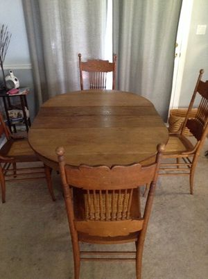 Antique Table with Chairs for Sale in Alexandria, VA