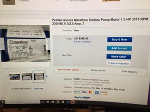 Turbine pump motor for Sale in Forest Heights, MD