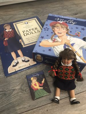 American Girl Molly - 6 Books, 1 Mini-doll, 1 Mini-book, and 1 Paper Doll Set for Sale in Upland, CA