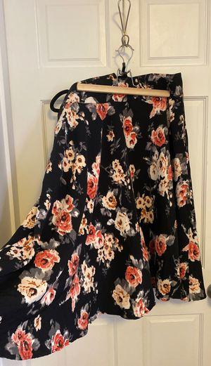 Unique Vintage 2XL black floral skirt for Sale in Boston, MA
