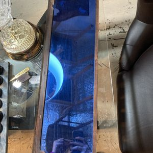 Rare Antique Blue Glass Mirror for Sale in Crosby, TX
