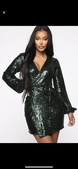 Fashion nova green sequin mini dress !! for Sale in West Haven,  CT