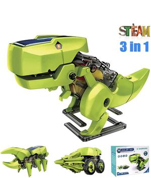 STEM Projects for Kids Ages 8-12 Powerd by Solar 3 in 1 DIY Building Dinosaurs Toy Kids Science Kits Age 8 and up Gift for Boys Girls for Sale in Chicago, IL