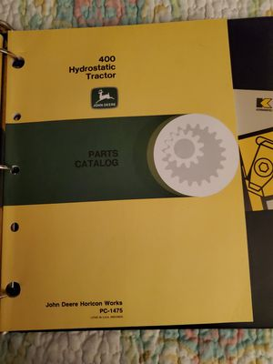 JOHN DEER 400 HRDROSTATIC TRACTOR MANUAL for Sale in Johnson City, TN