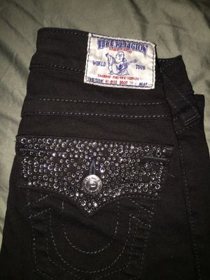 True Religion Size 24 Black for Sale in North Bethesda, MD