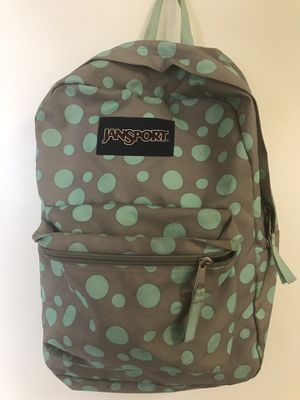 Jansport Mint Green and Gray Backpack for Sale in Chicago, IL