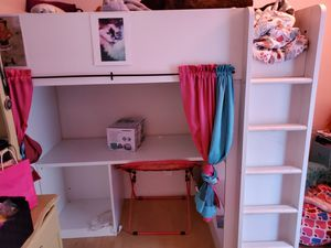 IKEA loft bed with desk for Sale in San Marcos, CA