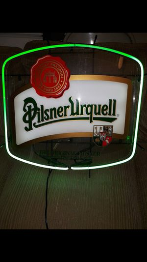 Never Used- Today $140.00 - Neon Pilsner Urquell Neon Beer Sign for Sale in Newfield, NJ