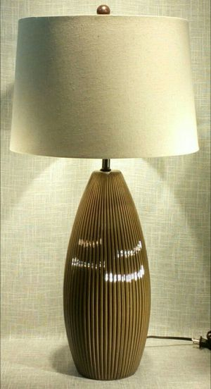 """Ceramic Brown Lamp 28"""" (1 available) *PICKUP ONLY* home decor, household, lamps, table lamps for Sale in Mesa, AZ"""