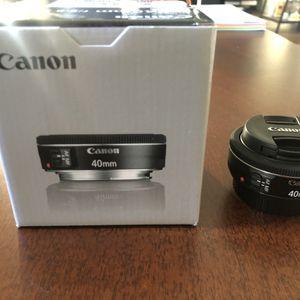 Canon EF 40mm f/2.8 STM Lens for Sale in Glendale, CA