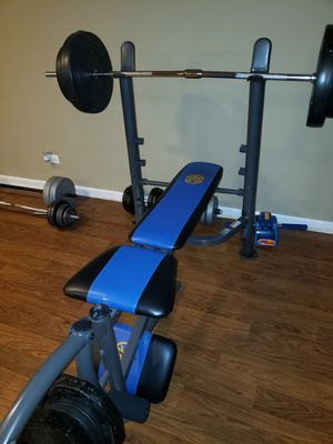 Marcy bench bar and weights. for Sale in Aurora, IL