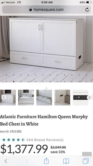 Queen size bed white for Sale in Valrico, FL