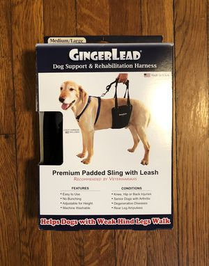 GingerLead Dog Harnesses paid $68 Size M/L brand new! Never used padded Slings with Integrated Leash - Ideal for Older, Disabled, or Injured Dogs Nee for Sale in Washington, DC