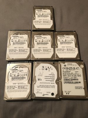7 Hard drives 10 dollars Each hard drive for Sale in Dallas, TX