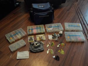 Shimono fishing reels, poles and tackle for Sale in Oklahoma City, OK
