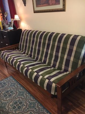 Wooden Futon with 2 Mattresses! for Sale in West Palm Beach, FL