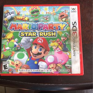 Mario Party Star Rush 3ds With Spider Cartoon Network Battle CrashersMan: Web Of Shadows And for Sale in Fresno, CA