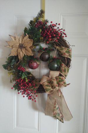 Jingle bells grapevine Holiday wreath for Sale in Rhinelander, WI