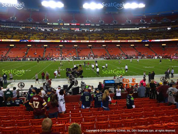 2 Redskins vs Cowboys Tickets Section 101 Lower level