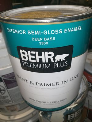 BEHR PAINT AND PRIMER PAINT - Yellow Semi Gloss Enamel for Sale in Washington, DC