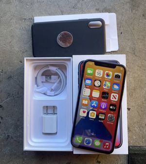 iPhone X 64gb unlocked for any service. Phone is a 9 out of 10, works perfect no cracks with new accessories + case 350$ for Sale in Fullerton, CA