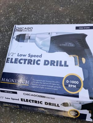 Chicago Electric Low Speed Drill for Sale in Loganville, GA