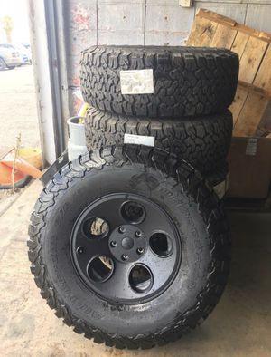 (5) BFG 35x12.5x17 KO2's on AEV Savegre Black Wheels for Sale in San Antonio, TX