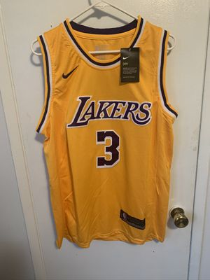 Anthony Davis #3 yellow Los Angeles lakers Jersey for Sale in Sylmar, CA