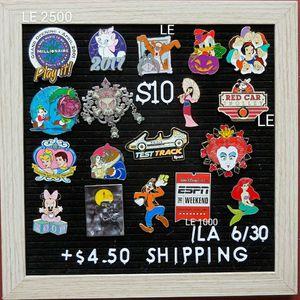 Disney Pins $10 Each for Sale in Hanson, MA