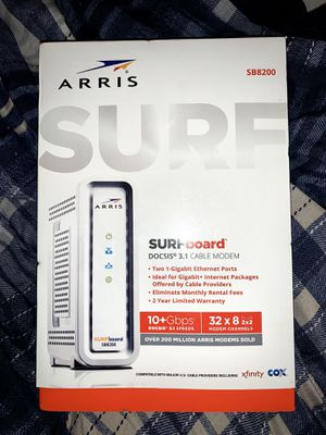 Arris Surfboard Docsis 3.1 Cable Modem New Sealed for Sale in West Covina, CA