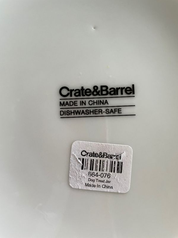 Crate And Barrel Dog And Cat Treat Jars