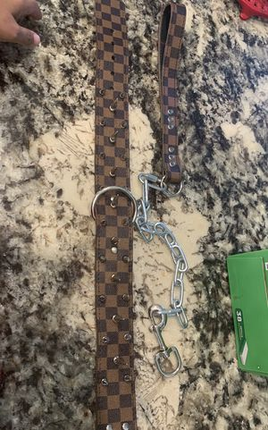 Custom made Louis Vuitton dog collar and leash for Sale in Elk Grove, CA